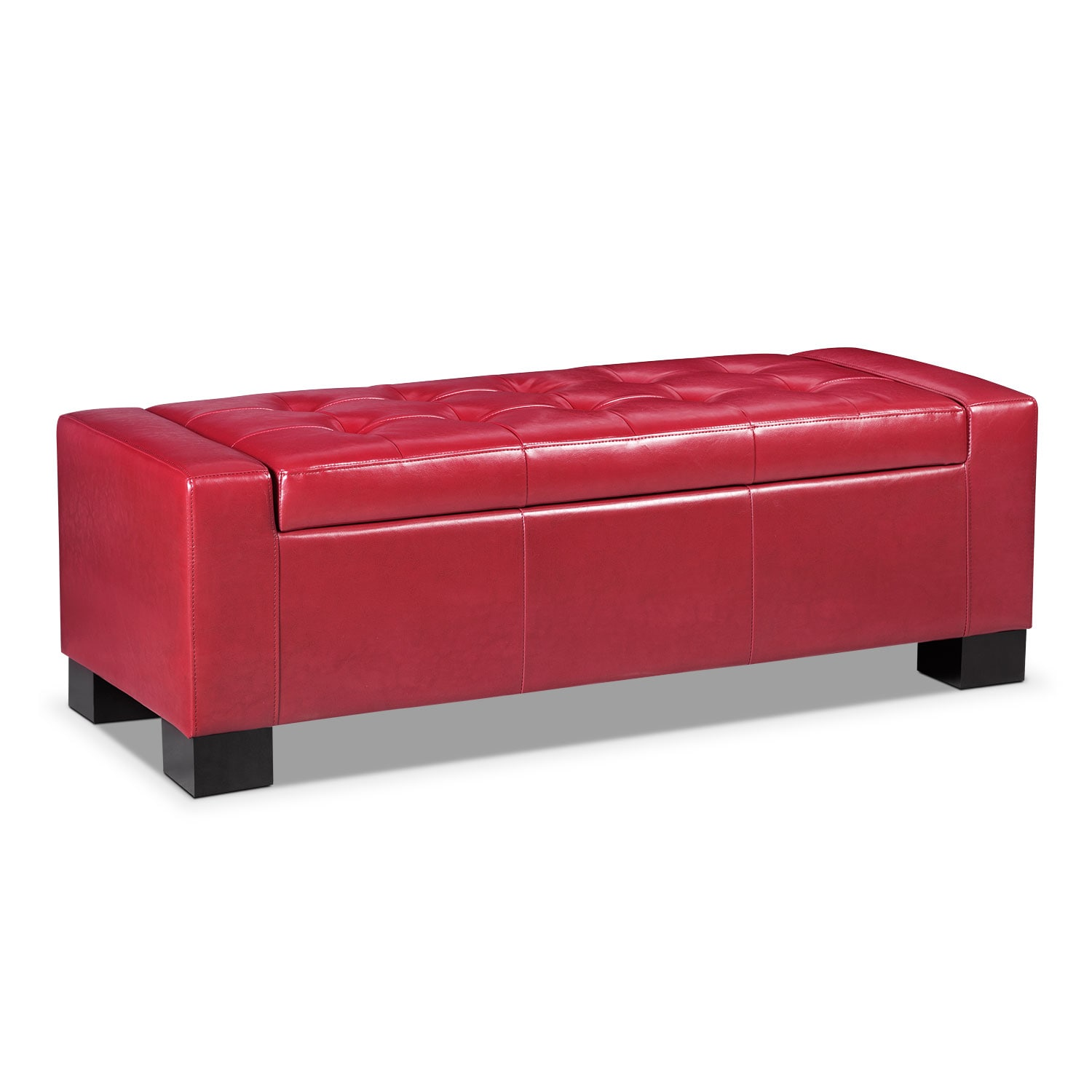 Accent and Occasional Furniture - Jive Storage Ottoman - Red