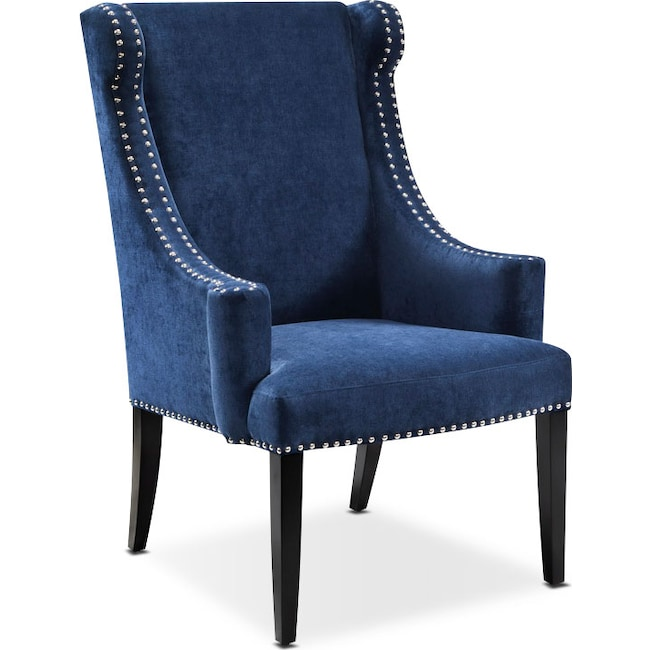 Living Room Furniture - Delshire Accent Chair - Blue
