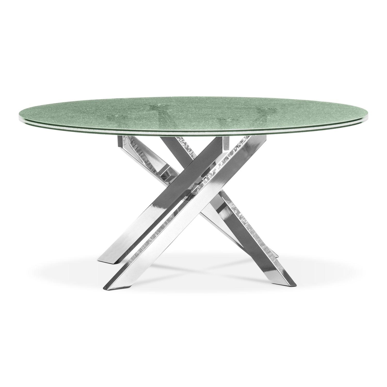 Kings Brand Coylin Chrome Glass Cocktail Coffee Table: Celestial Cocktail Table - Glass And Chrome