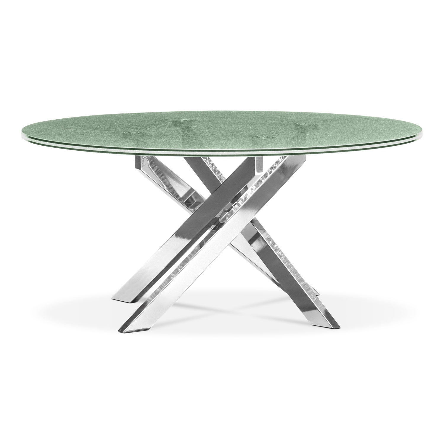 Accent and Occasional Furniture - Celestial Cocktail Table - Glass and Chrome