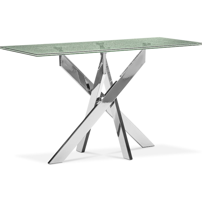 Accent and Occasional Furniture - Celestial Console Table - Glass and Chrome