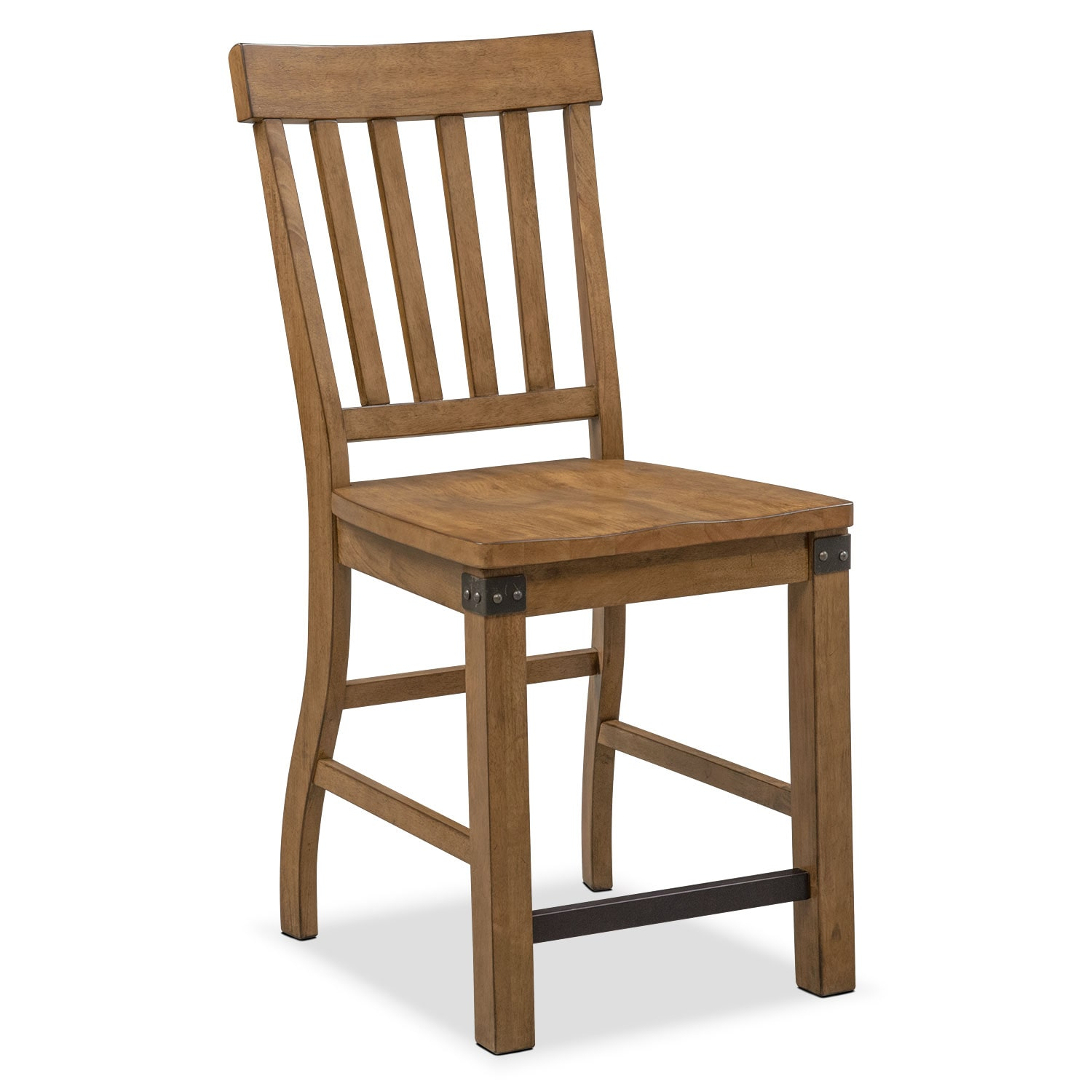 Dining Room Furniture - Salem Counter-Height Chair - Pecan