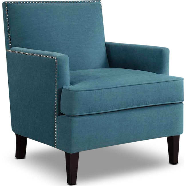Accent and Occasional Furniture - Astrid Accent Chair - Blue