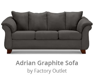 Shop the Adrian Graphite Sofa by Factory Direct