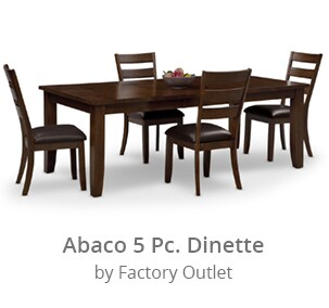 Shop the Abaco 5 piece Dinnette by Factory Outlet