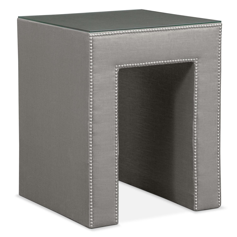 Bedroom Furniture - Nyla Nightstand - Granite