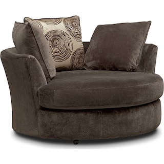 Cordelle Swivel Chair - Chocolate
