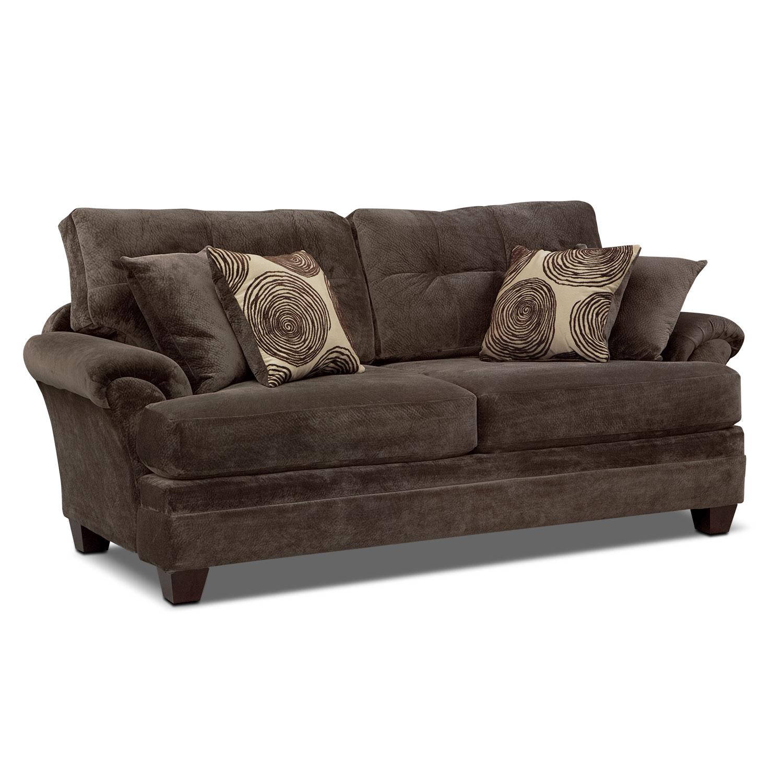 Cordelle Sofa Chocolate American Signature Furniture