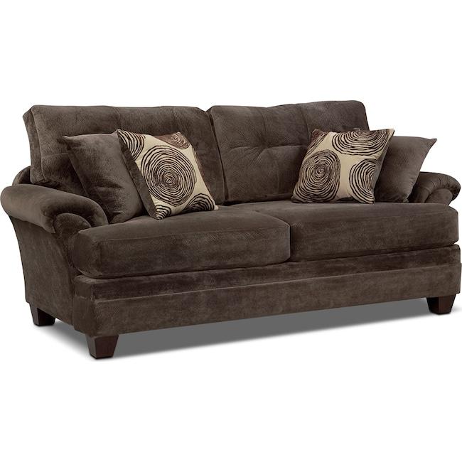 Living Room Furniture - Cordelle Sofa - Chocolate