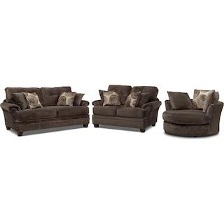 Cordelle Sofa, Loveseat and Swivel Chair Set