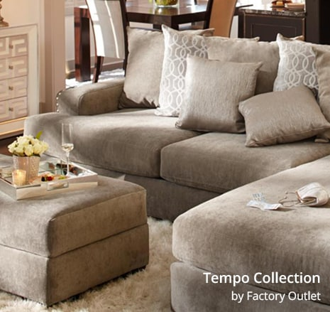Shop the Tempo Collection 2 piece sectional by Factory Outlet