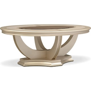 Allegro Coffee Table - Platinum