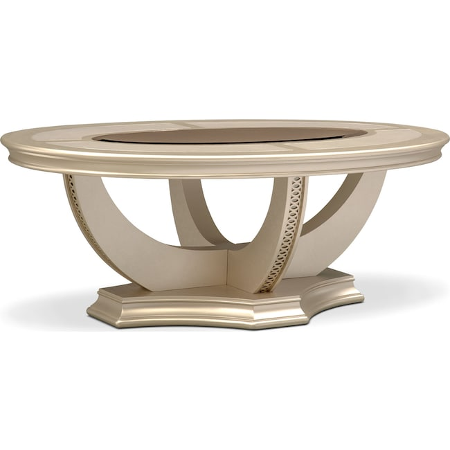 Accent and Occasional Furniture - Allegro Coffee Table - Platinum