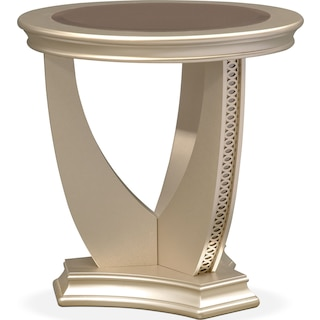 Allegro End Table - Platinum