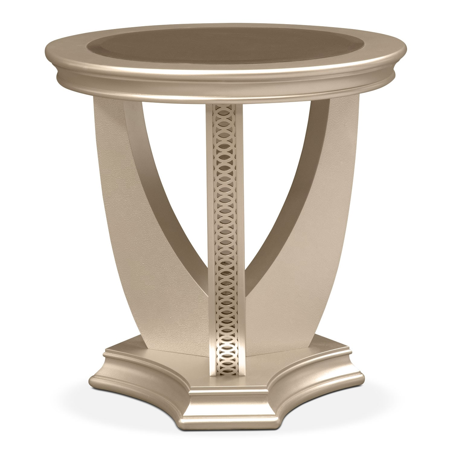 Nice Allegro End Table   Platinum By Najarian