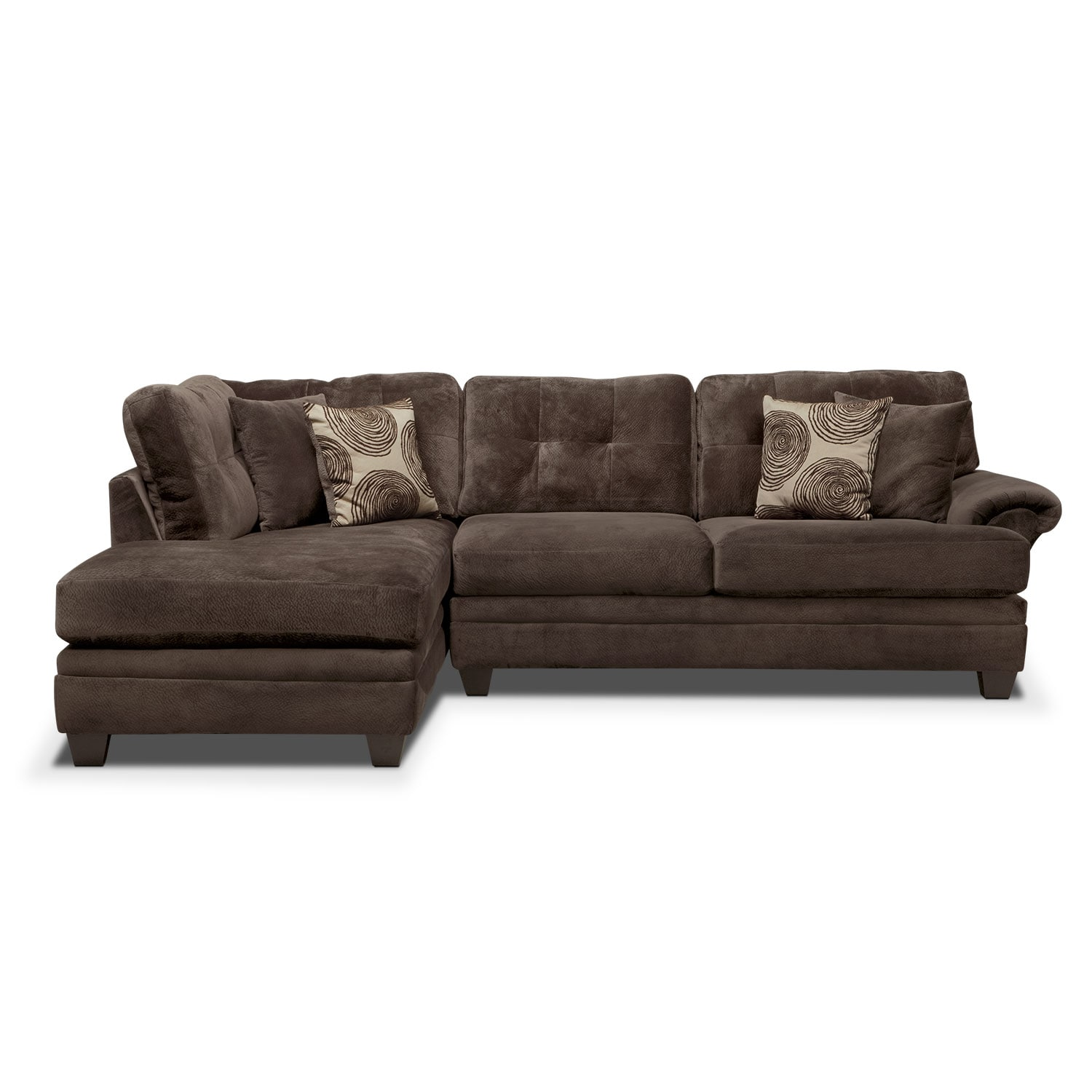 cordelle 2 piece sectional with left facing chaise. Black Bedroom Furniture Sets. Home Design Ideas