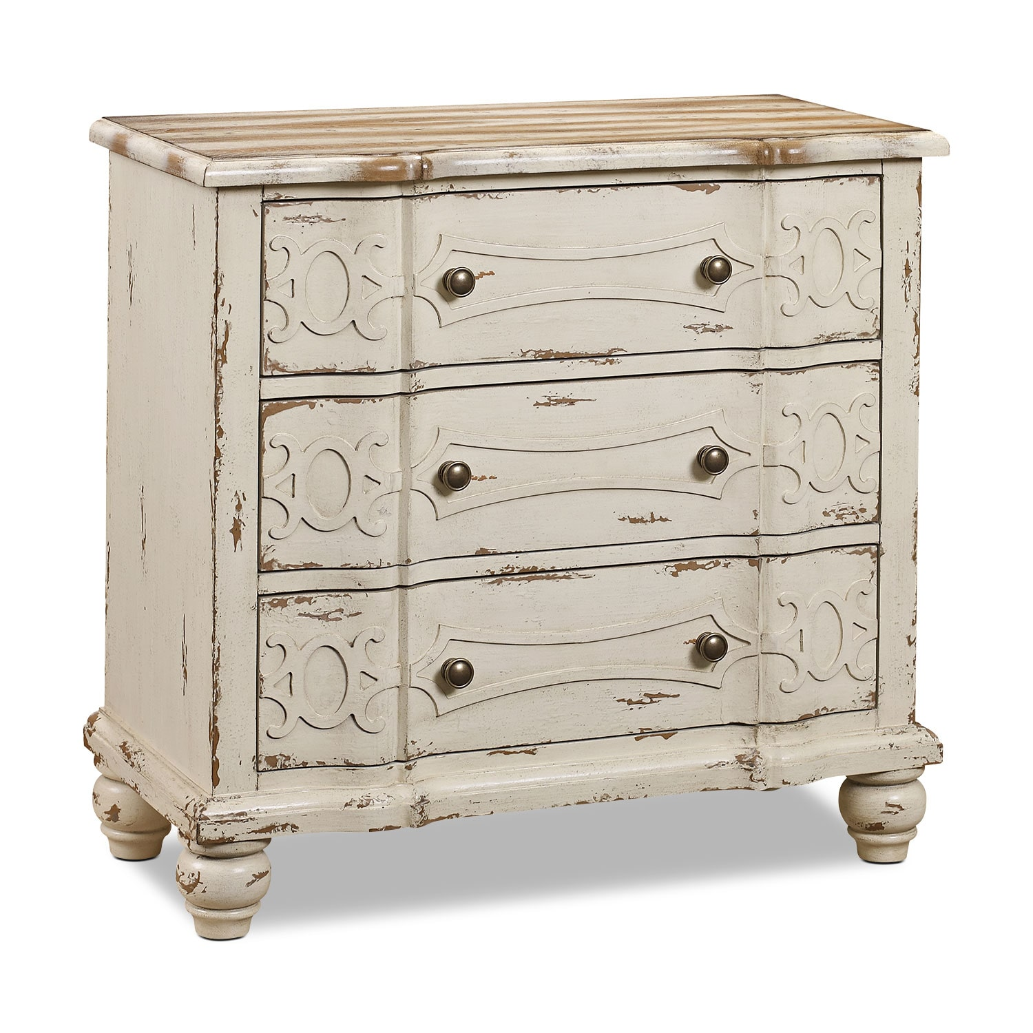 woodbury accent drawer chest distressed ivory - Accent Chests
