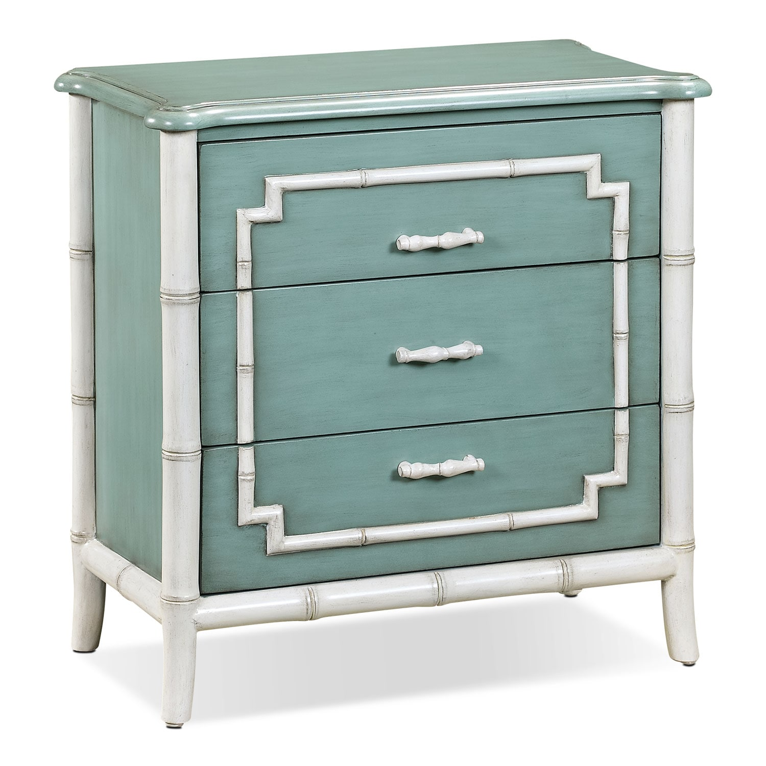 Accent and Occasional Furniture - Hines Accent Drawer Chest - Seafoam