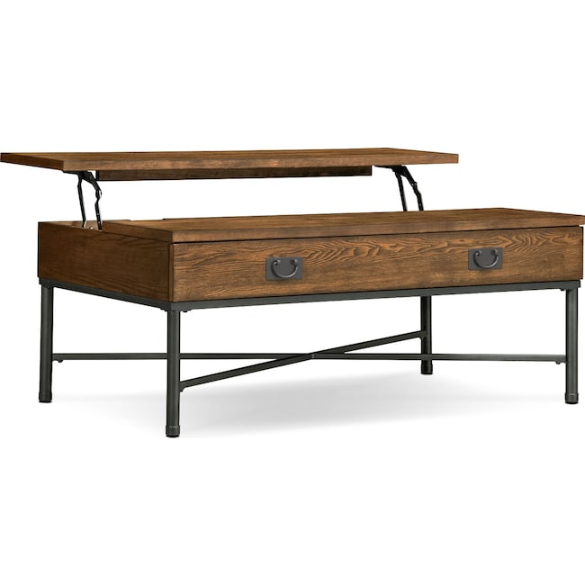 Accent and Occasional Furniture - Shipyard Lift-Top Cocktail Table - Nutmeg