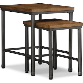 Shipyard 2-Piece Nesting Tables - Nutmeg