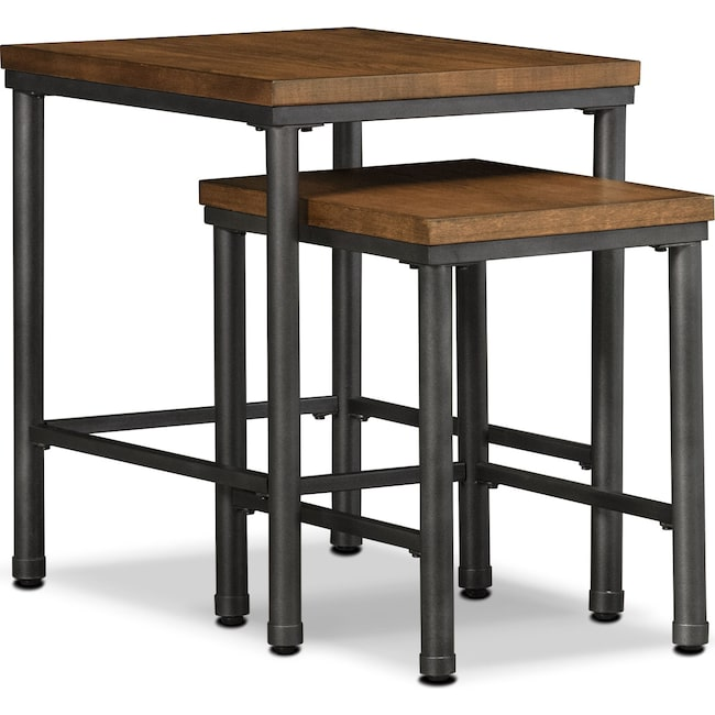 Accent and Occasional Furniture - Shipyard 2-Piece Nesting Tables - Nutmeg