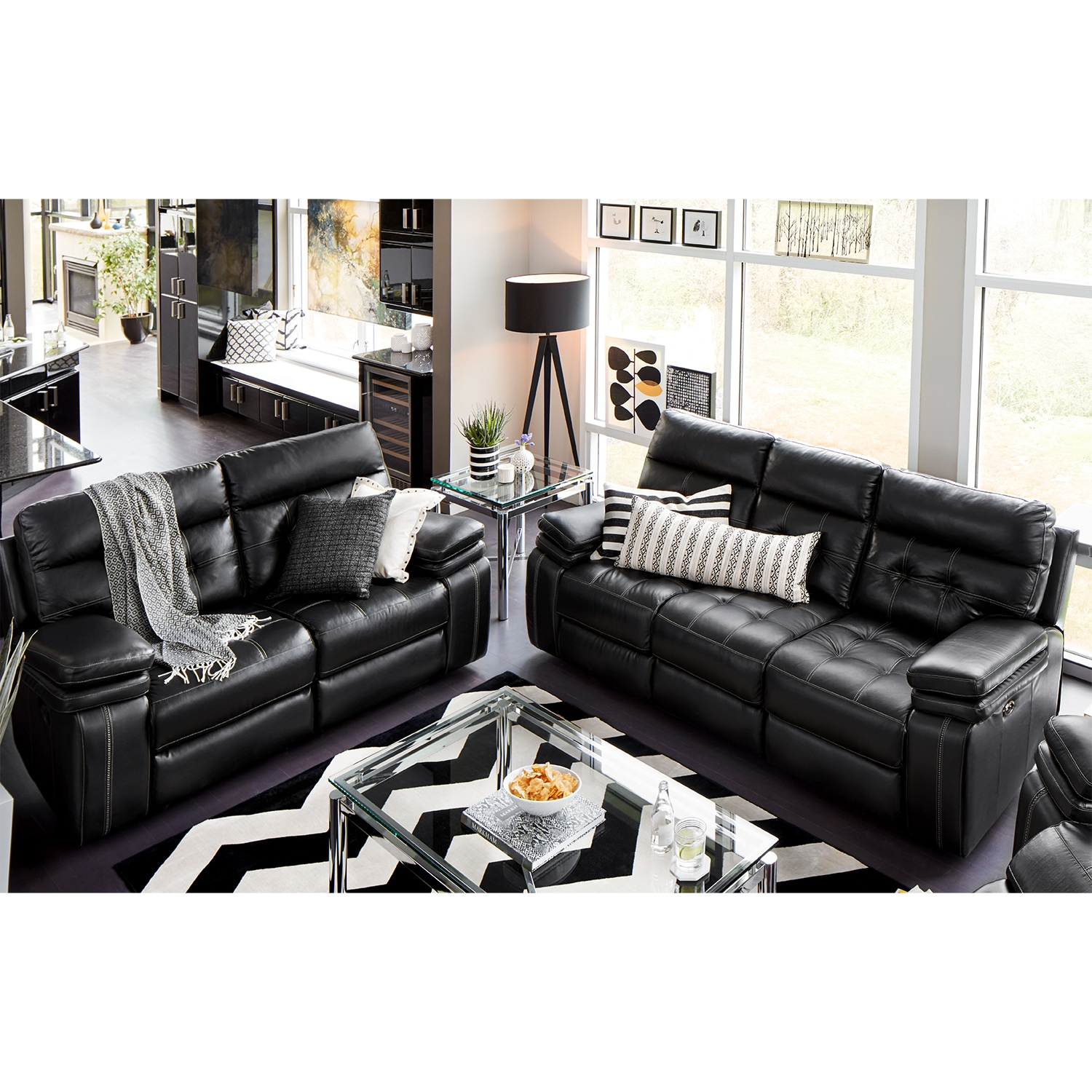 American Signature Furniture Com: Brisco Power Reclining Sofa And Reclining Loveseat Set