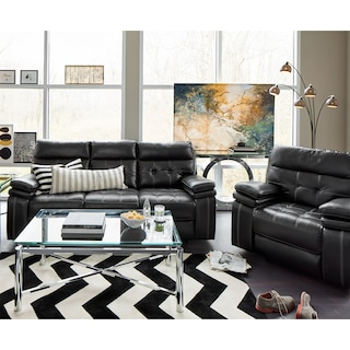Brisco Dual-Power Reclining Sofa and Recliner Set