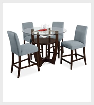 Shop the Alcove Aqua II 5 piece Dinnete Set