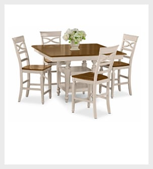 Shop the Chesapeake II 5 piece Counter-Height Dinette Set