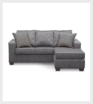 Shop the Sterling Charcoal Sleeper Sofa with Chaise