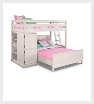 Shop the Colorworks White II Loft Bed with Full Bed