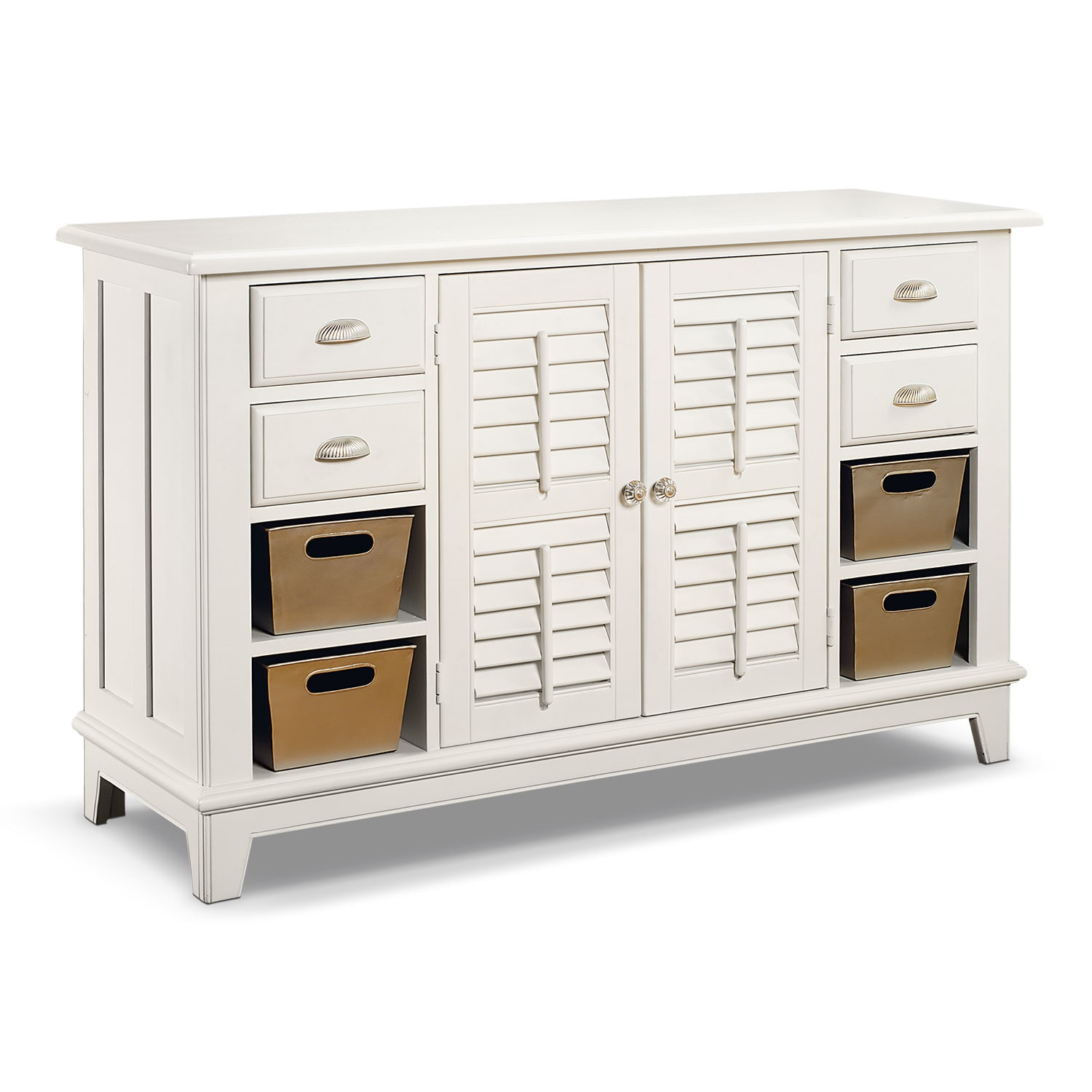 Accent and Occasional Furniture - Plantation Cove Sofa Table - White