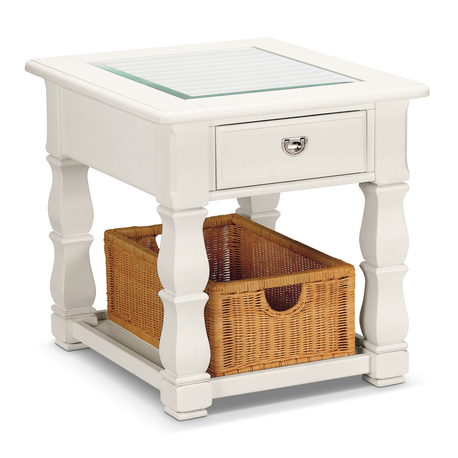 Plantation Cove End Table - White