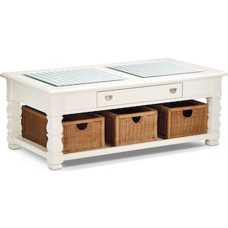 Plantation Cove Cocktail Table - White