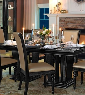 Find tips on furnishing your first dining room