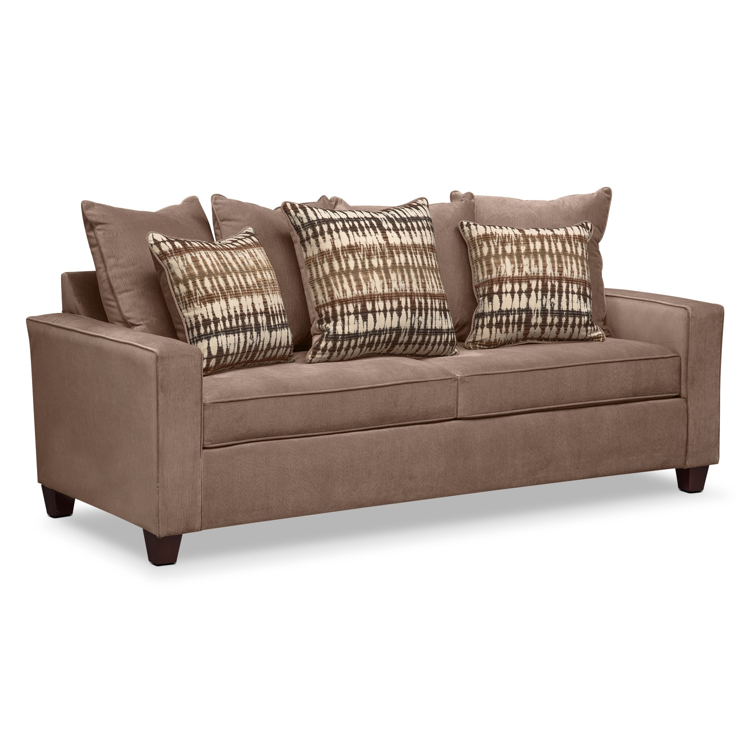 Living Room Furniture - Bryden Queen Innerspring Sleeper Sofa - Chocolate