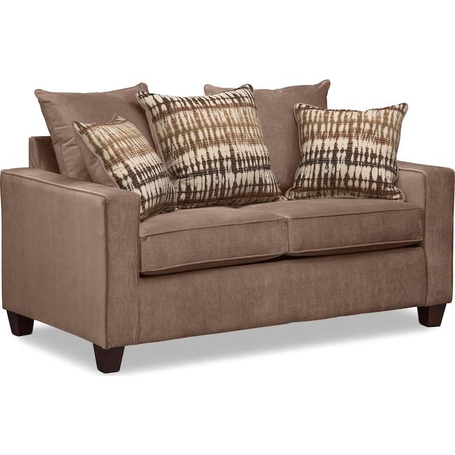Living Room Furniture - Bryden Loveseat - Chocolate