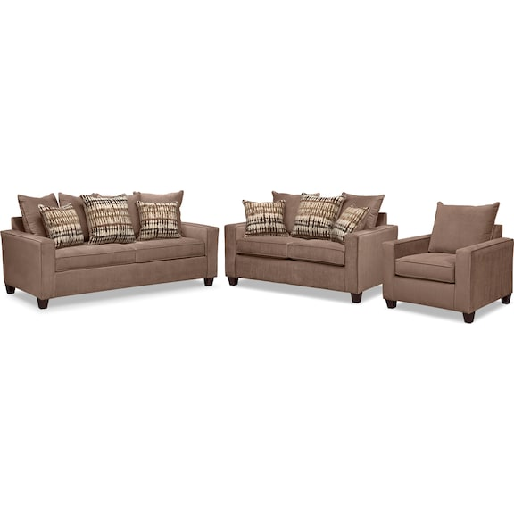 The Bryden Collection Chocolate American Signature Furniture