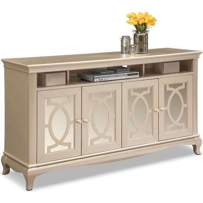 Accent and Occasional Furniture - Allegro TV Credenza - Platinum