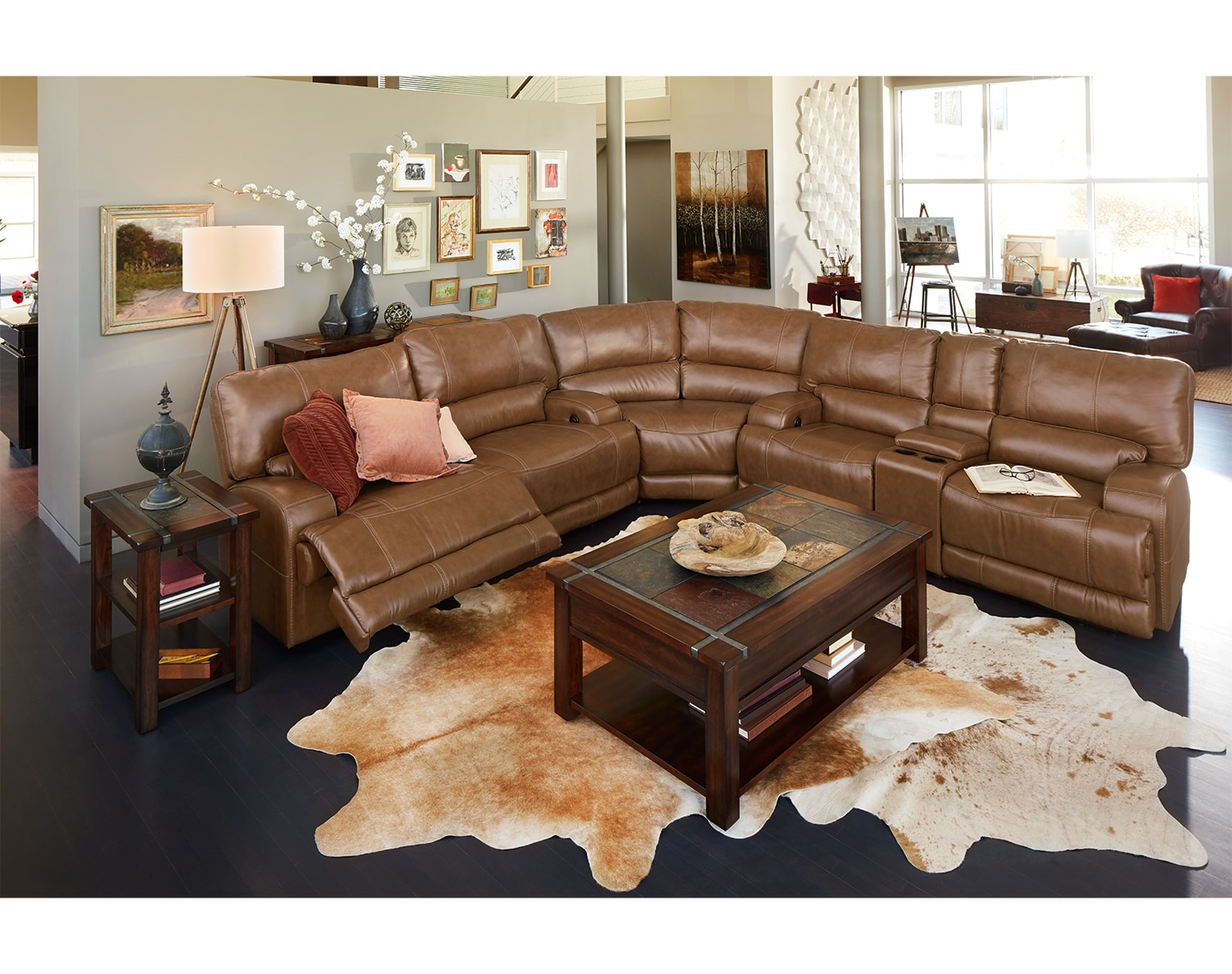 The Barton Sectional Collection - Camel