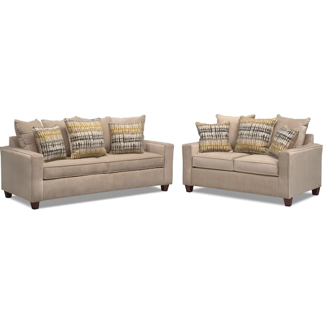 Living Room Furniture - Bryden Sofa and Loveseat Set