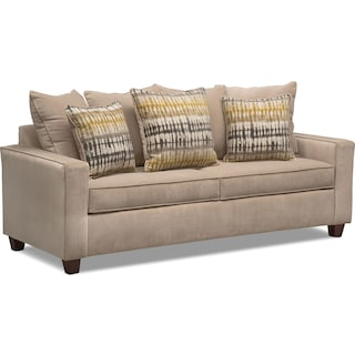 Bryden Queen Memory Foam Sleeper Sofa - Beige