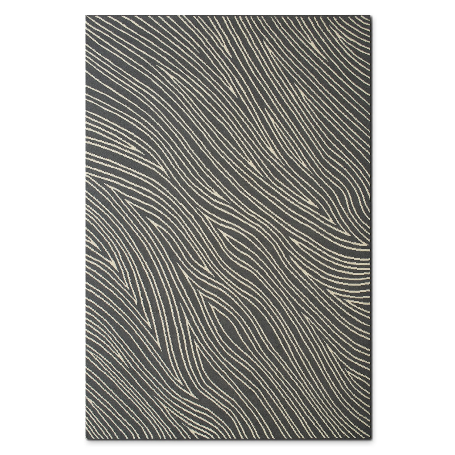 Broadway 5' x 8' Area Rug - Gray and Ivory