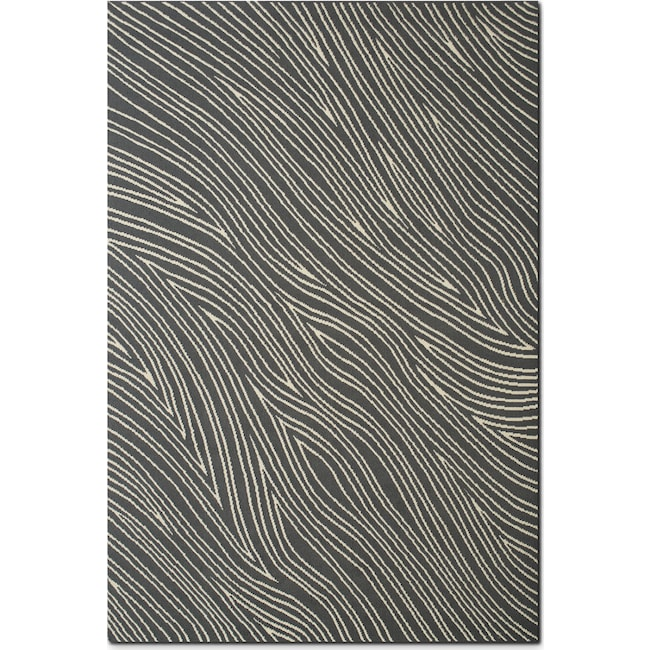 Rugs - Broadway 8' x 10' Area Rug - Gray and Ivory
