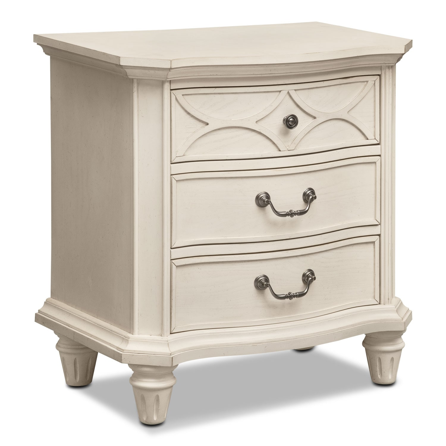 Chelsea Nightstand - Bisque White