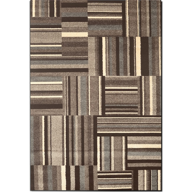Rugs - Ava 5' x 8' Area Rug - Gray and Cream