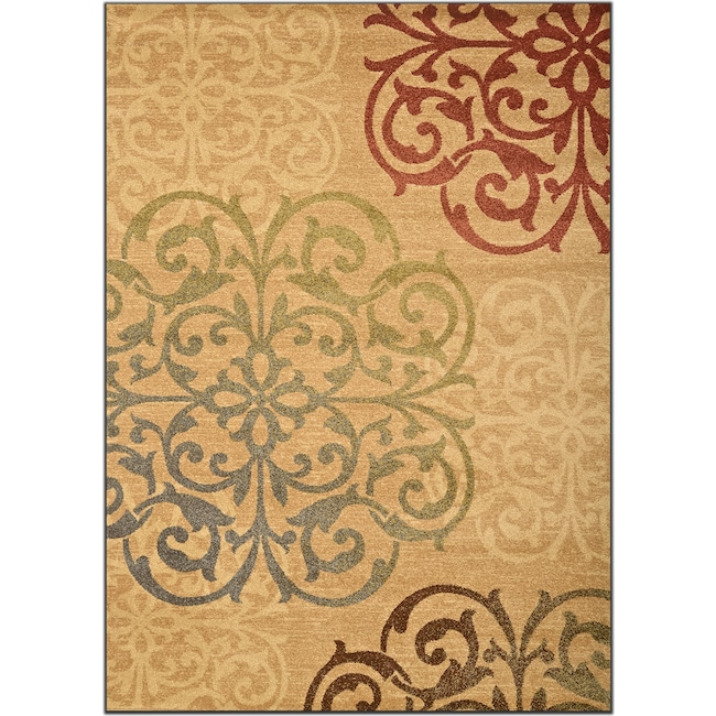 Rugs - Ava 8' x 10' Area Rug - Beige and Green