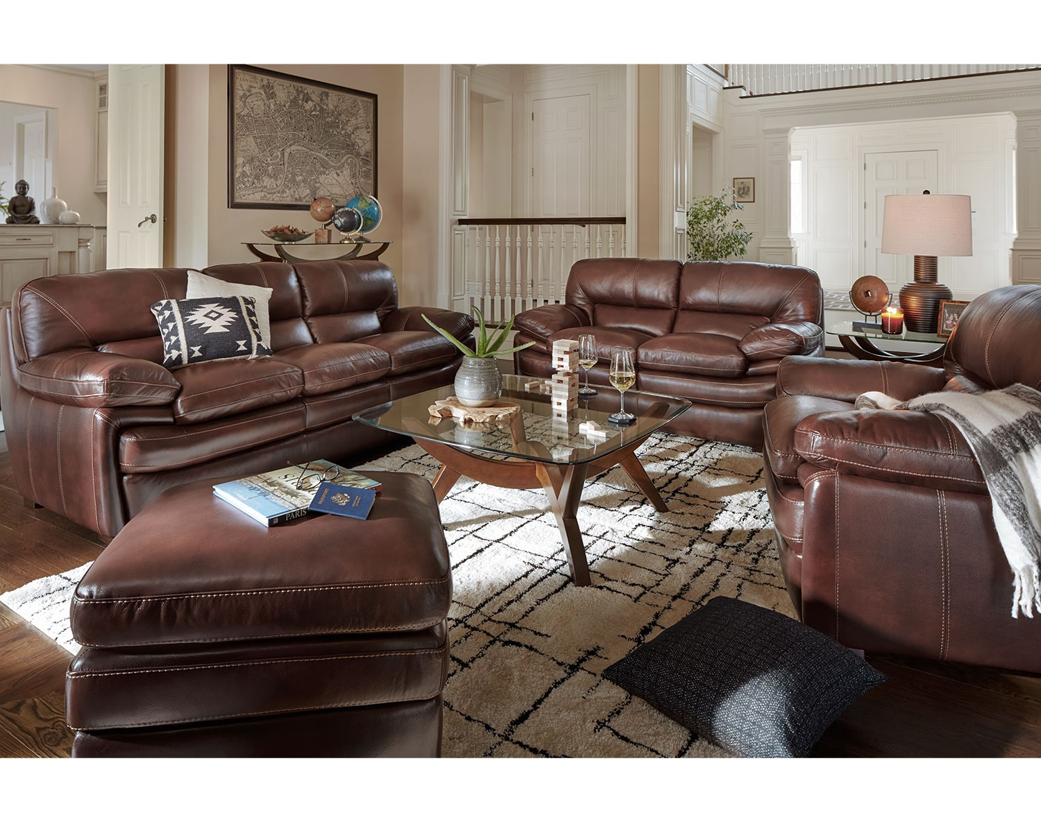 The Peyton Chestnut Living Room Collection