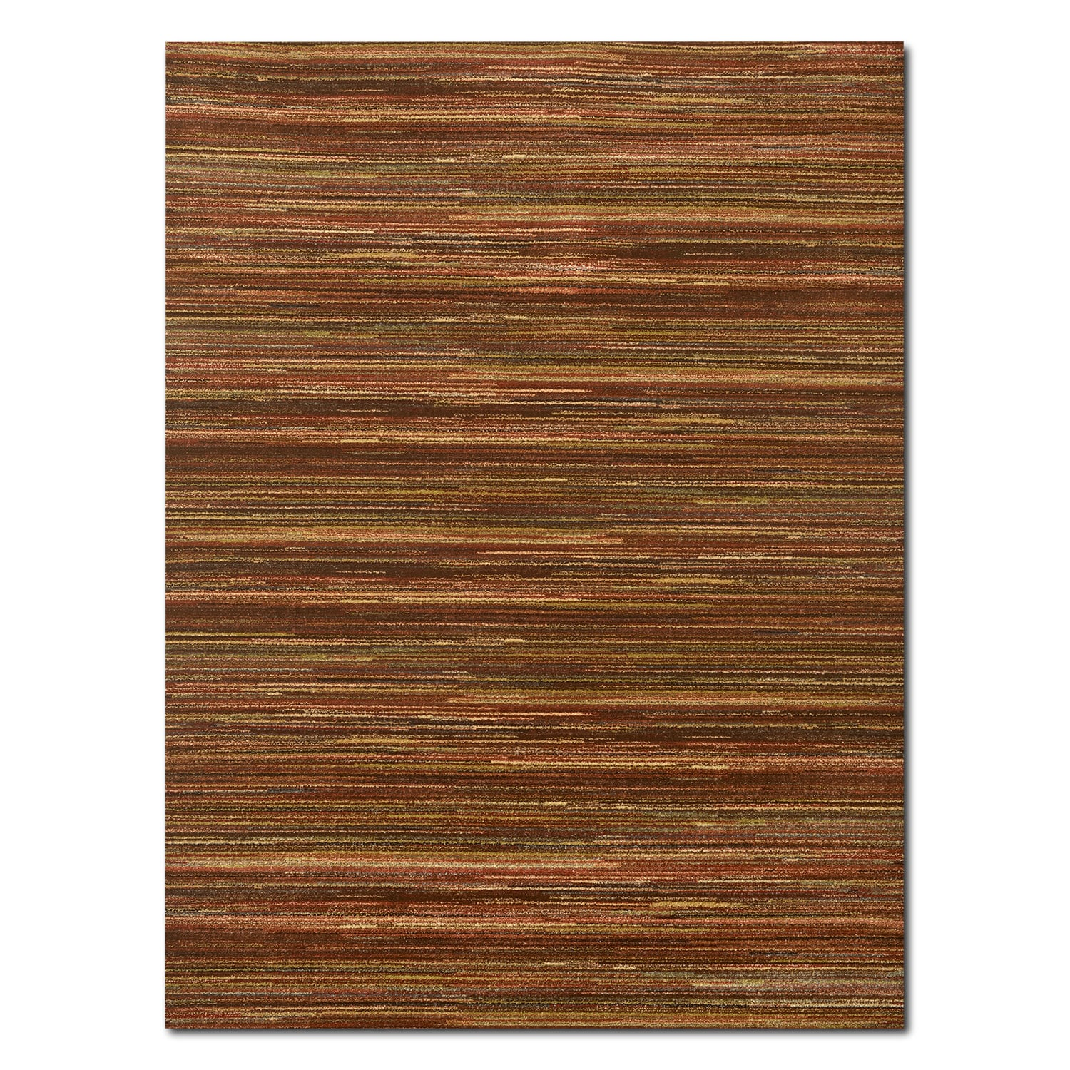 Ava 5' x 8' Area Rug - Red and Green