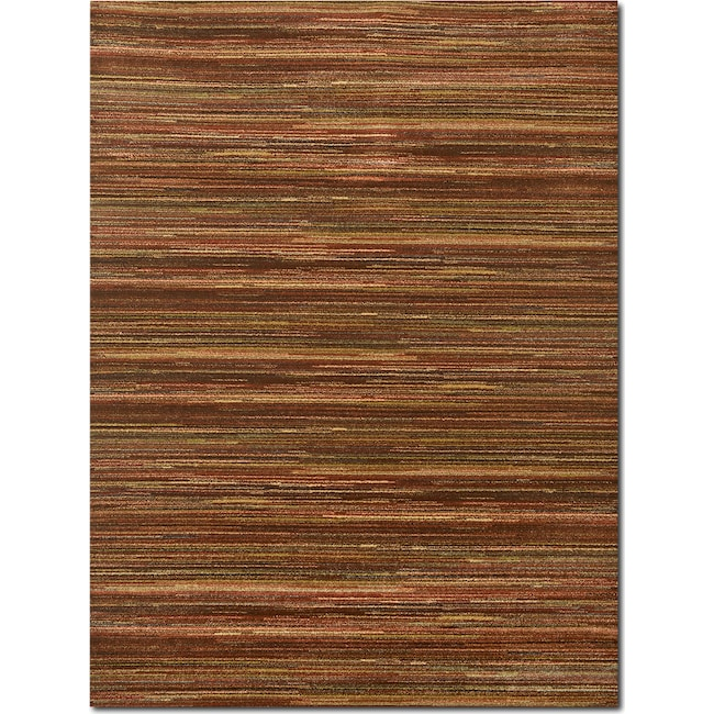 Rugs - Ava 5' x 8' Area Rug - Red and Green